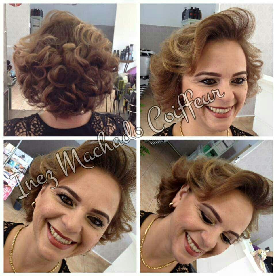 Corte repicado, e iluminado. Com escova modelada. Maquiagem festa. cabelo cabeleireiro(a) stylist / visagista