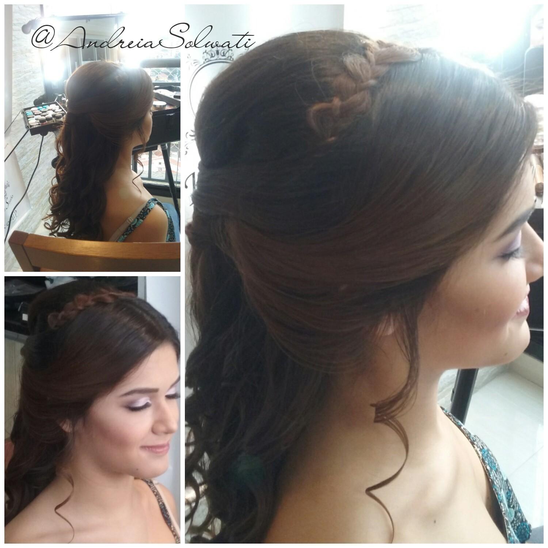 Penteado para debutante @andreiasolwati cabelo cabeleireiro(a) depilador(a) manicure e pedicure