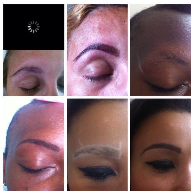 Henna antes e depois outros designer de sobrancelhas