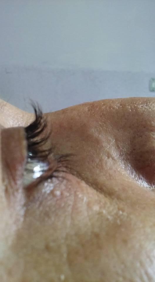 Permanente de cílios (depois). outros designer de sobrancelhas