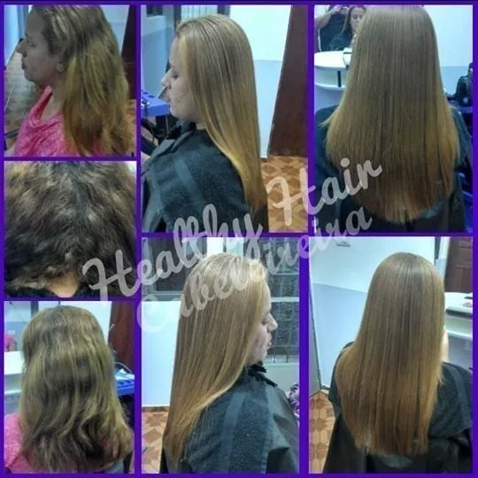 Progressiva. cabelo