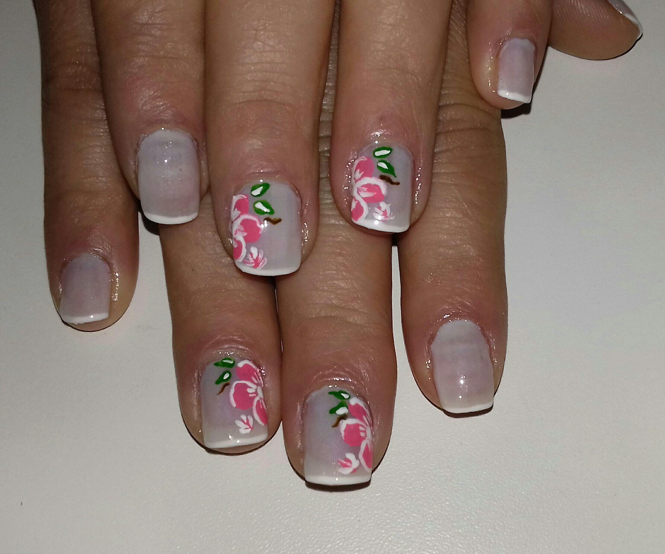 Unhas decoradas artesanalmente! #francesinha unha manicure e pedicure manicure e pedicure