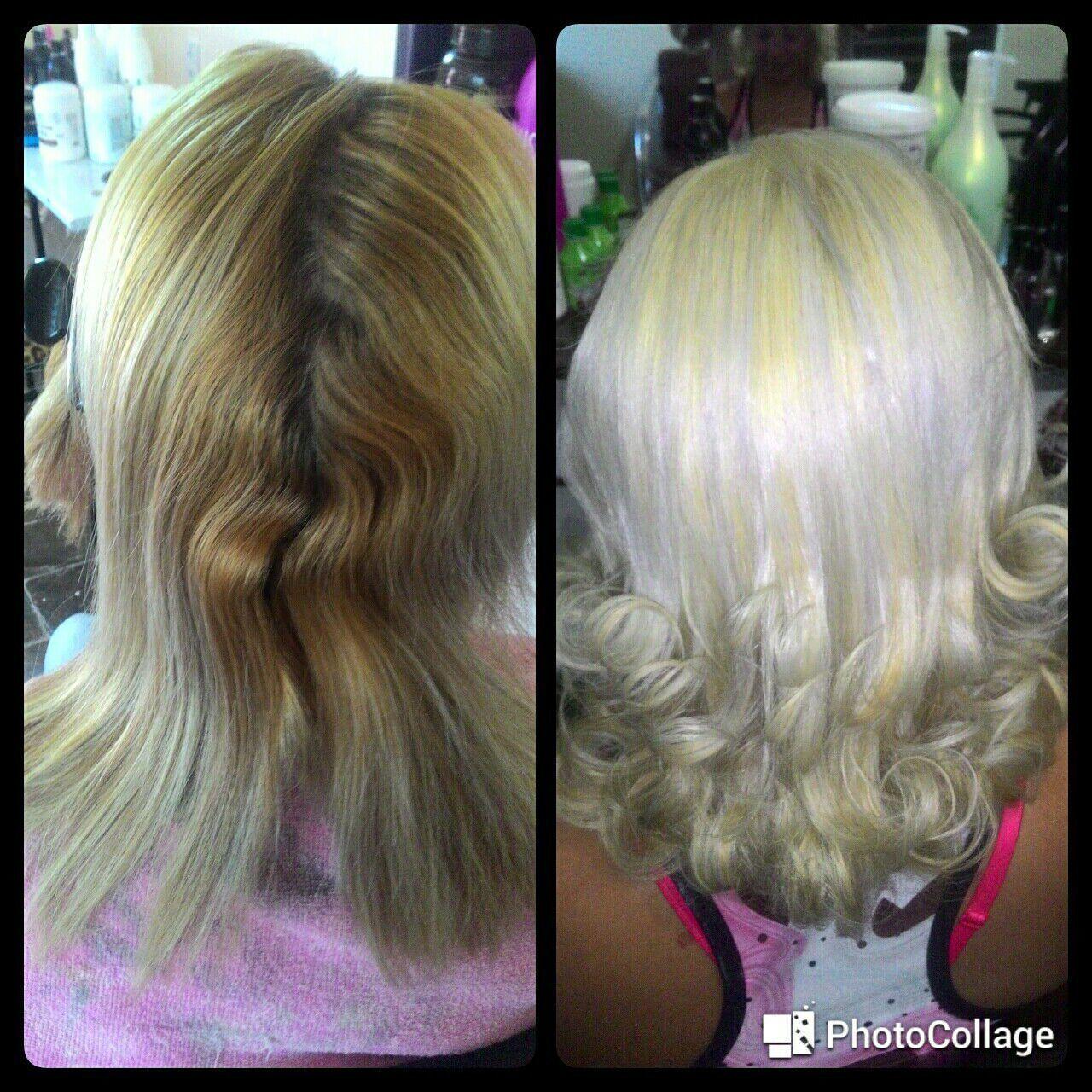 Descoloração Global cabelo cabeleireiro(a) manicure e pedicure