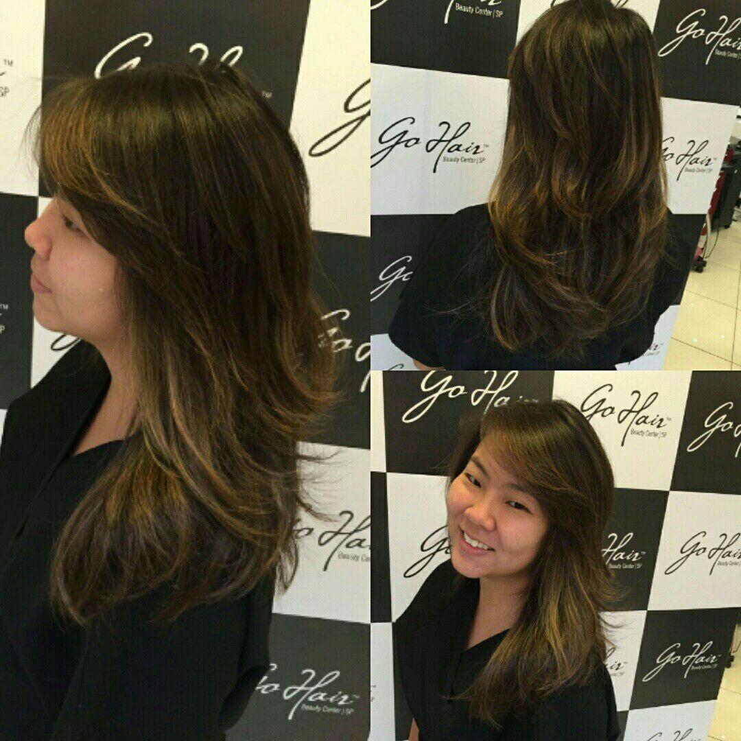 Iluminação de fios cabelo cabeleireiro(a)