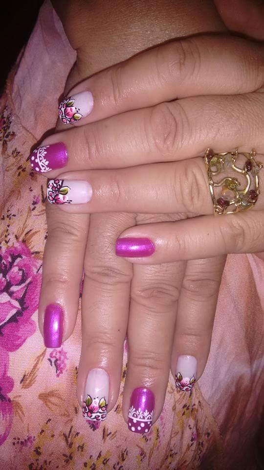Rosa toppppp unha manicure e pedicure