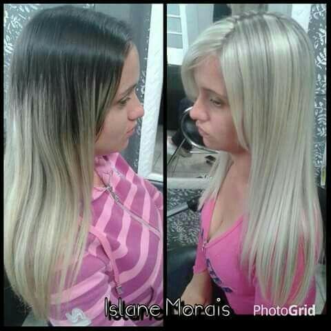 Luzes platinadas cabelo cabeleireiro(a)