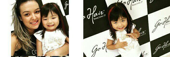 Mechinha rosa da princesa. cabelo cabeleireiro(a)