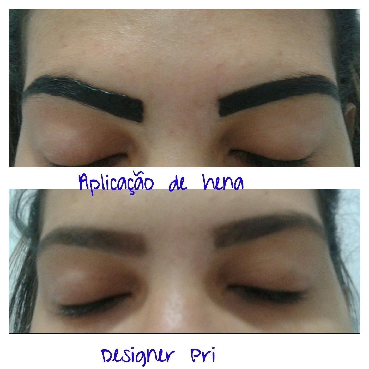 Aplicação de hena!  outros designer de sobrancelhas depilador(a)