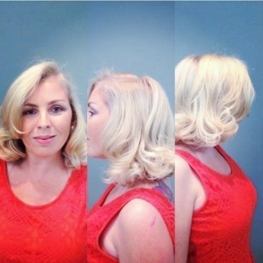 Cor e corte styling vintage cabelo cabeleireiro(a) maquiador(a)