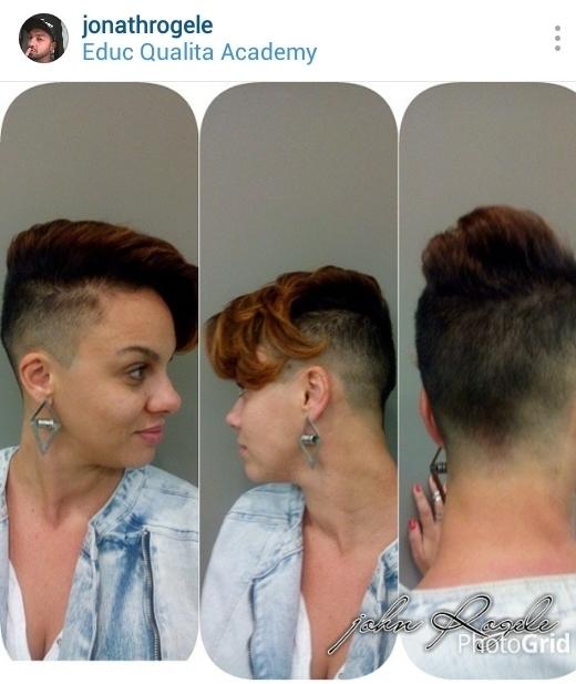 Undercut feminino alisamento e tonalizaçao cabelo cabeleireiro(a) maquiador(a)