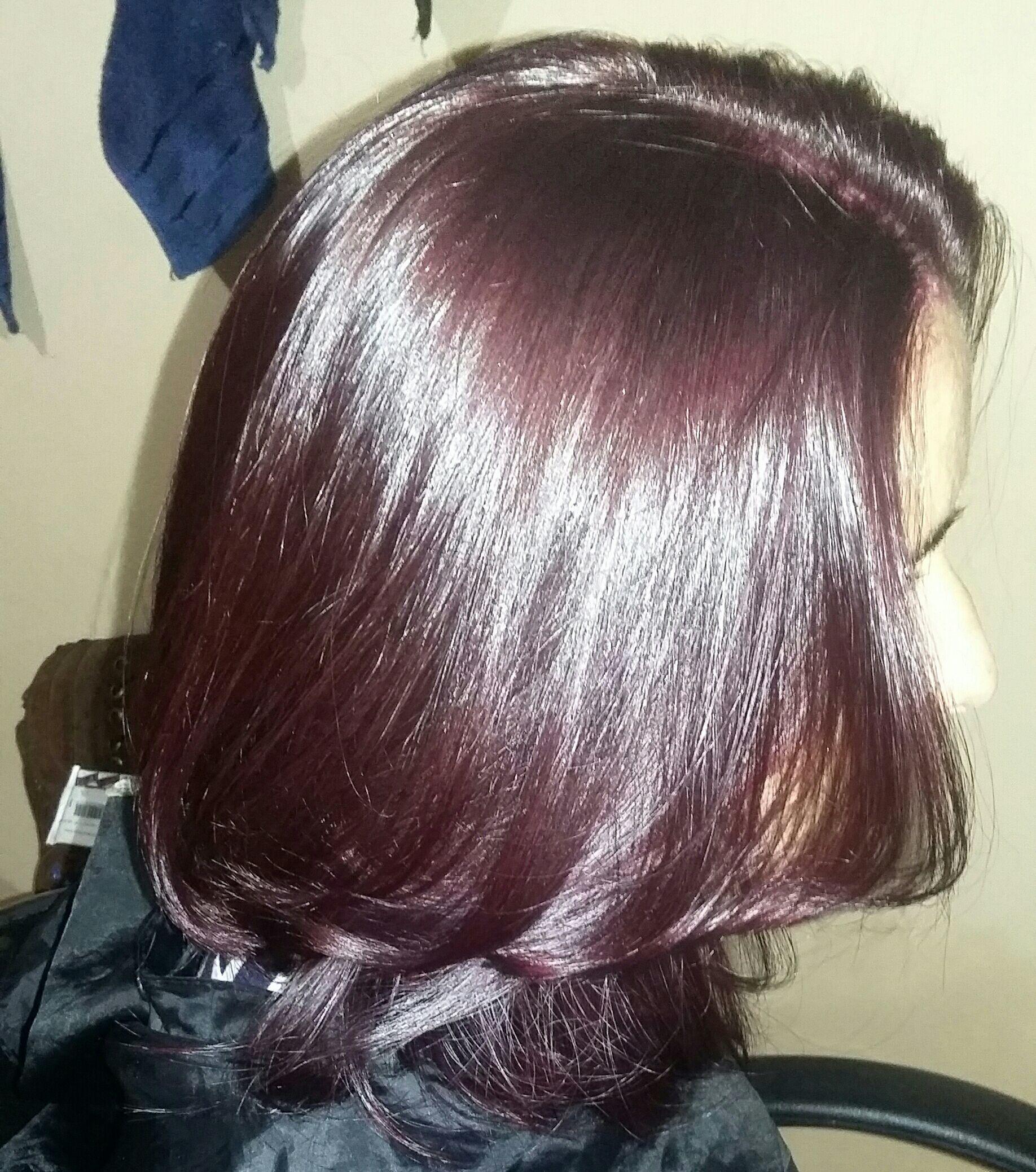 Coloração marsala amei 662. cabelo cabeleireiro(a)