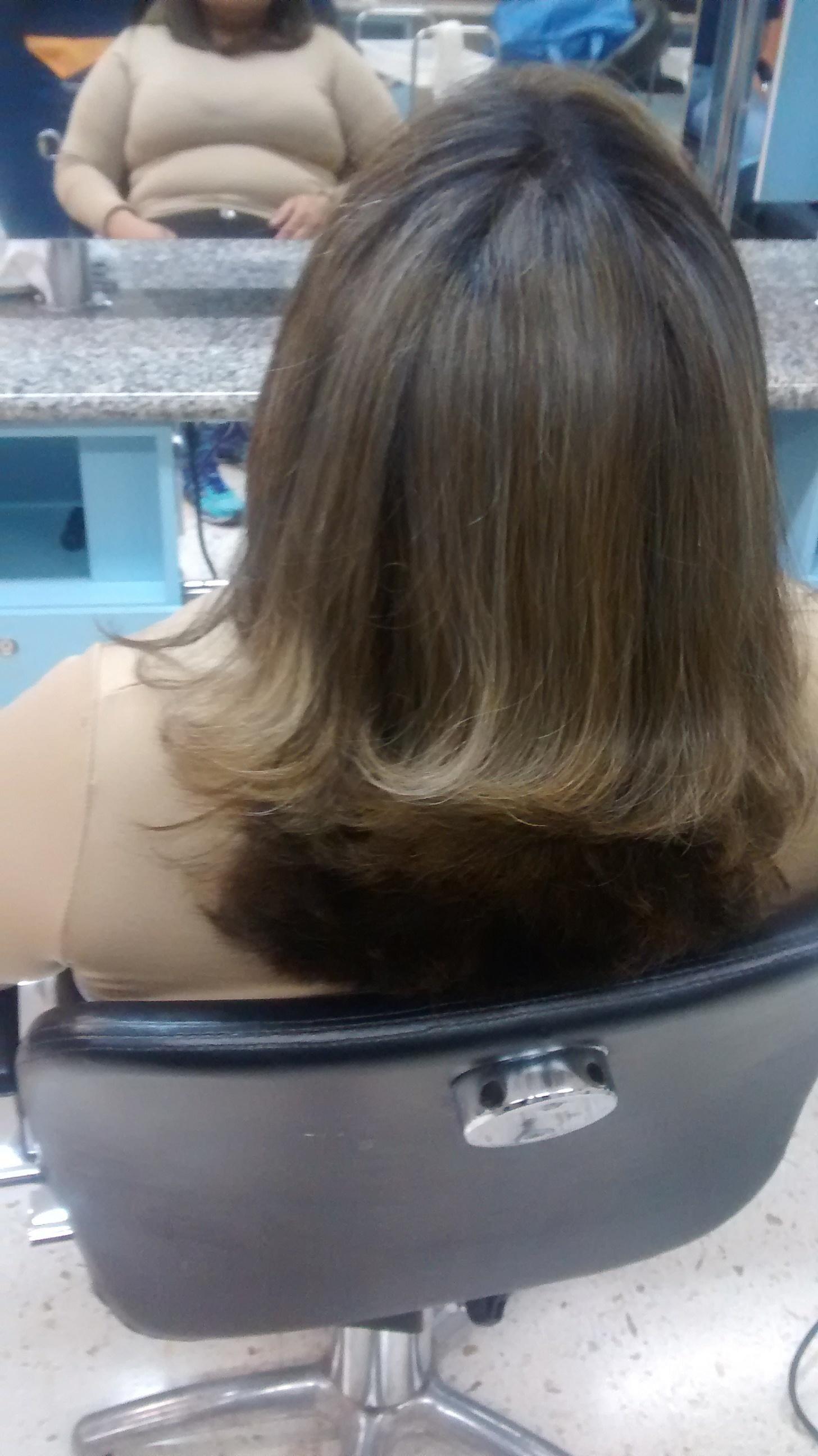 Corte logbob totalização escova finalizado  cabelo auxiliar cabeleireiro(a)