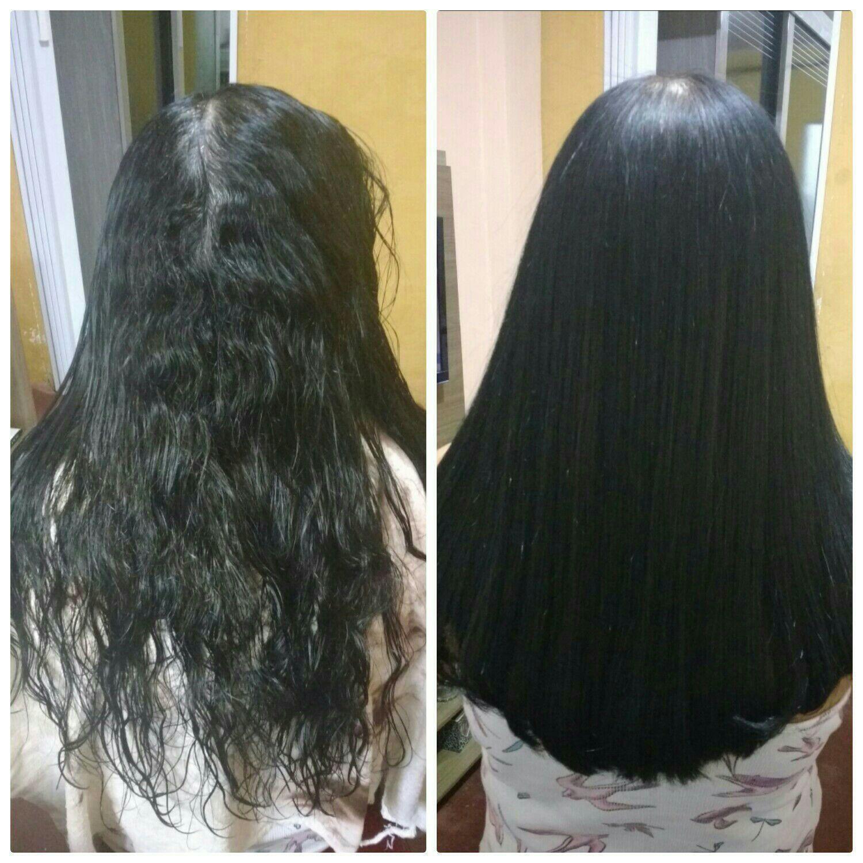 Antes e depois  Progressiva + Corte cabelo cabeleireiro(a)