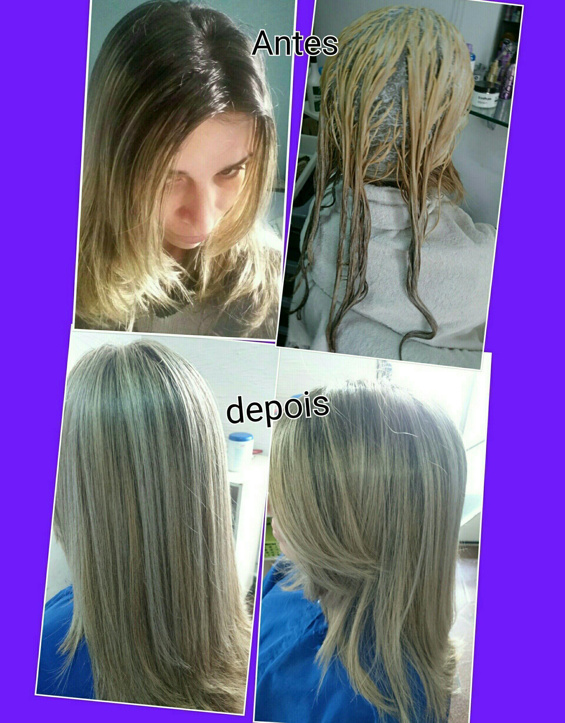 Retoque de raiz dw luzes com clareamento,totalização pérola e Matizando com 7000 pra finalizar cabelo cabeleireiro(a)