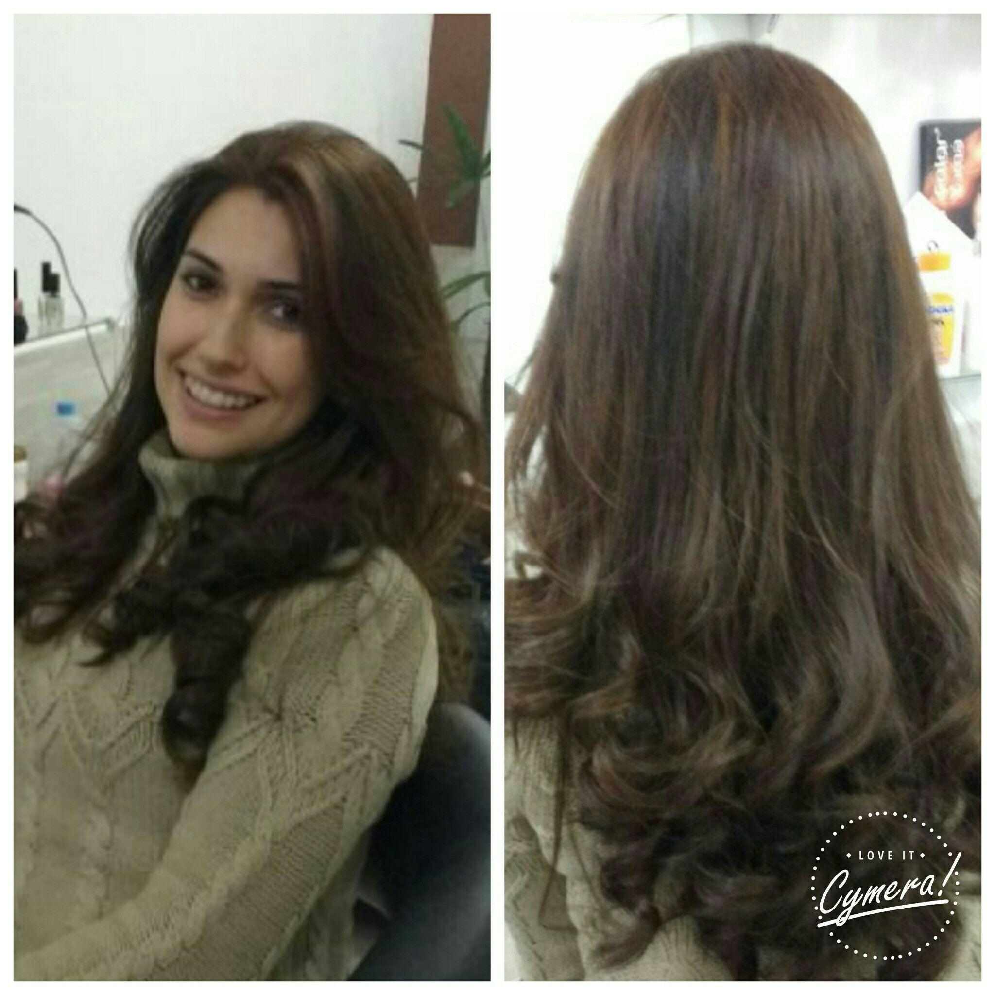 Coloração  +  hidratação  + escova modela . cabelo cabeleireiro(a)