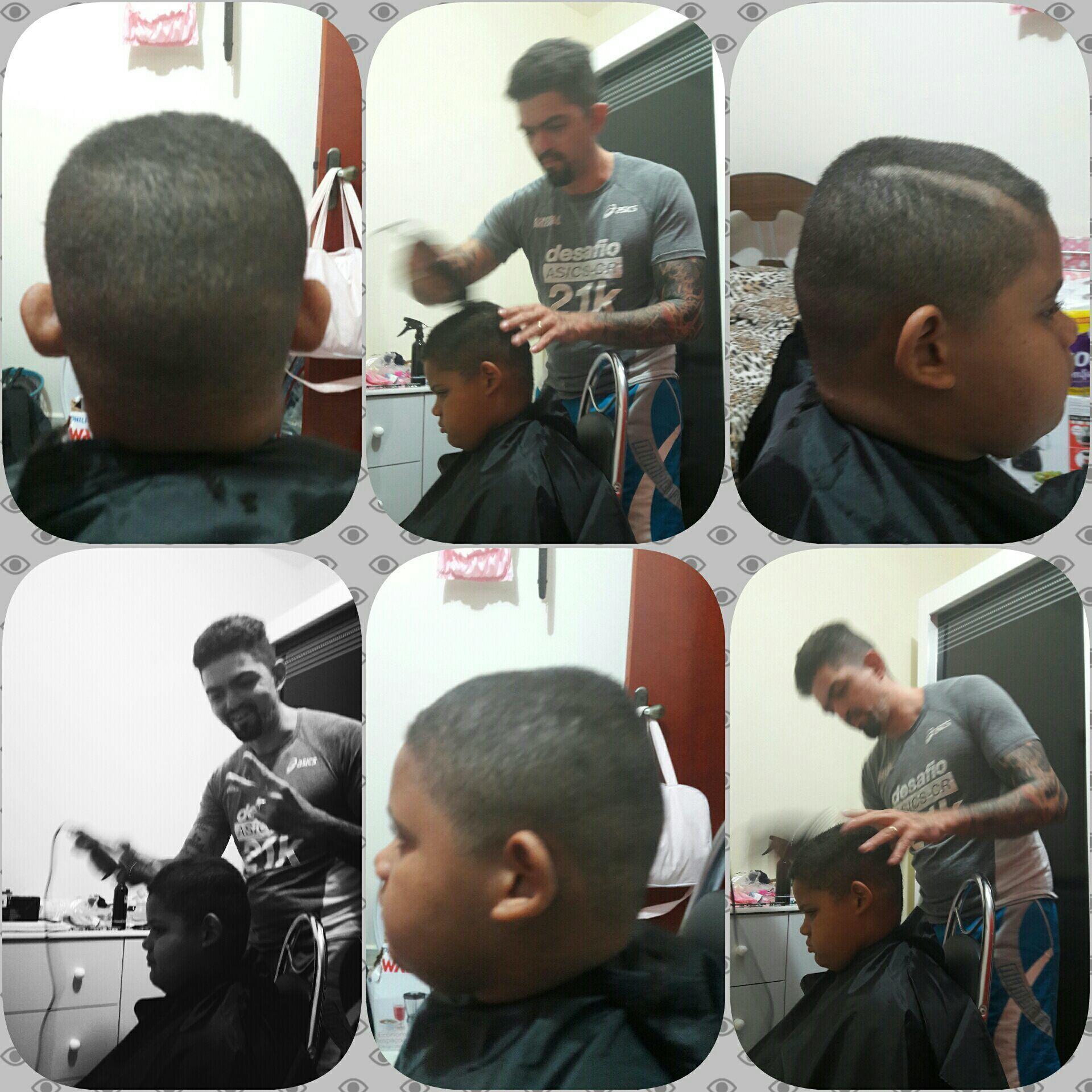 Meu primeiro corte!!! Estreando a maquina Wahl legend e Andis GTX!!!! cabelo barbeiro(a)