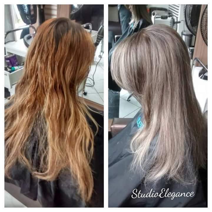 Correção de cor e mechas . cabelo cabeleireiro(a)