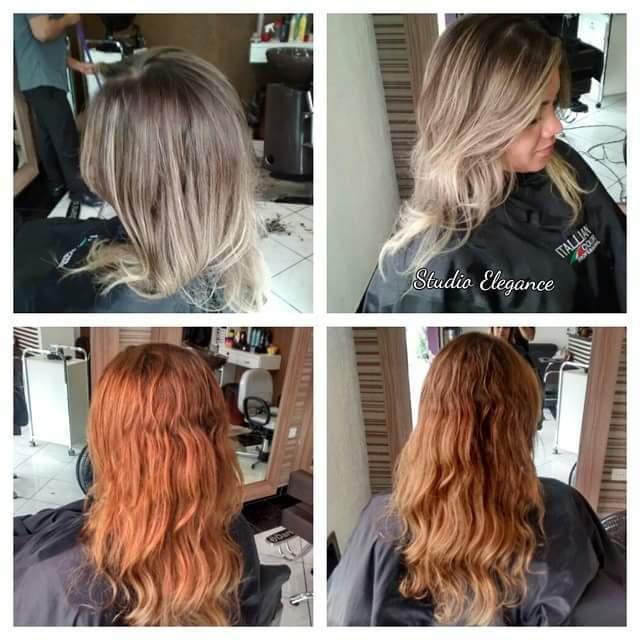 O antes está embaixo foi realizado correção de cor e iluminação gradativa e iluminação na parte frontal dando um ar mais sofisticado. cabelo cabeleireiro(a)