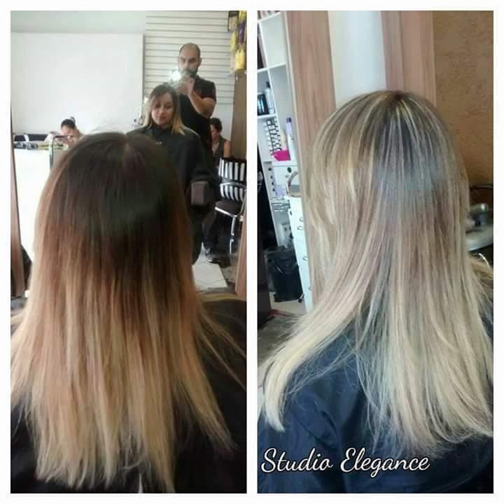 Retoque de mechas  cabelo cabeleireiro(a)