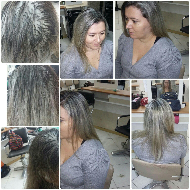 Luzes e Totalização. cabelo auxiliar cabeleireiro(a)