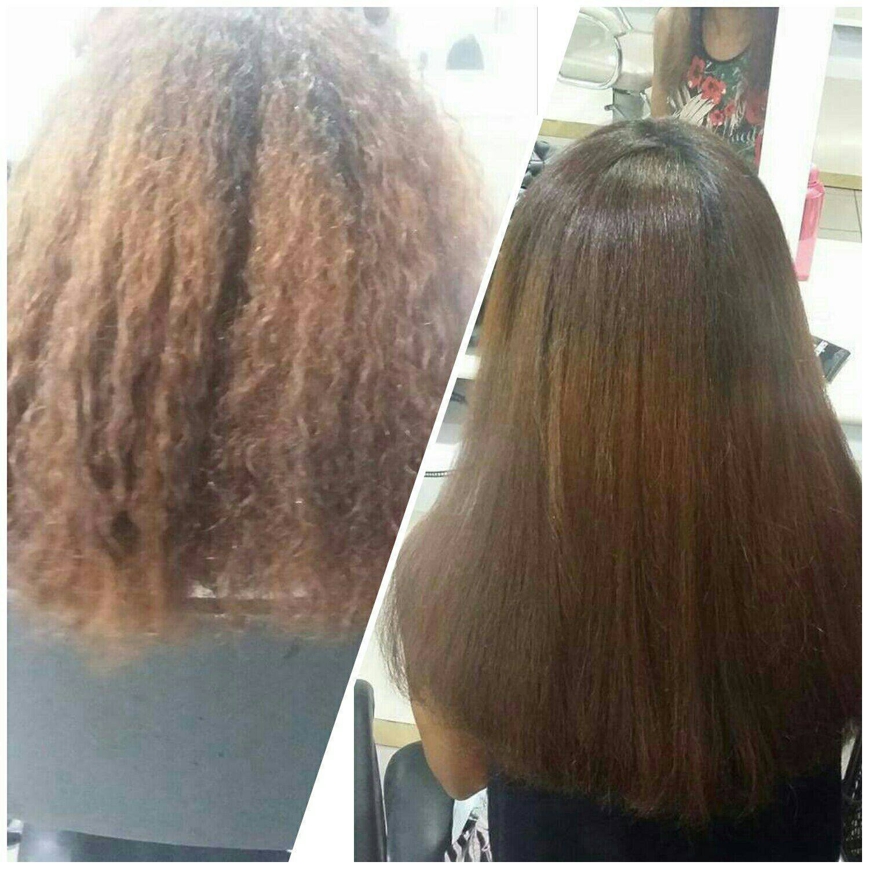 Escova Progressiva e Corte. cabelo auxiliar cabeleireiro(a)
