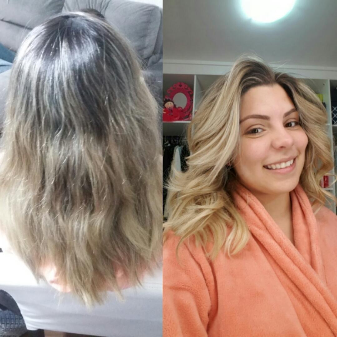 Realçando o loira da linda maquiadora e blogueira Jaqueline Rosa. Até sem make ela é linda né ?? #divaa cabelo cabeleireiro(a) maquiador(a)
