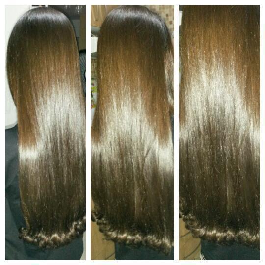 Hidratação e Escova cabelo auxiliar cabeleireiro(a)