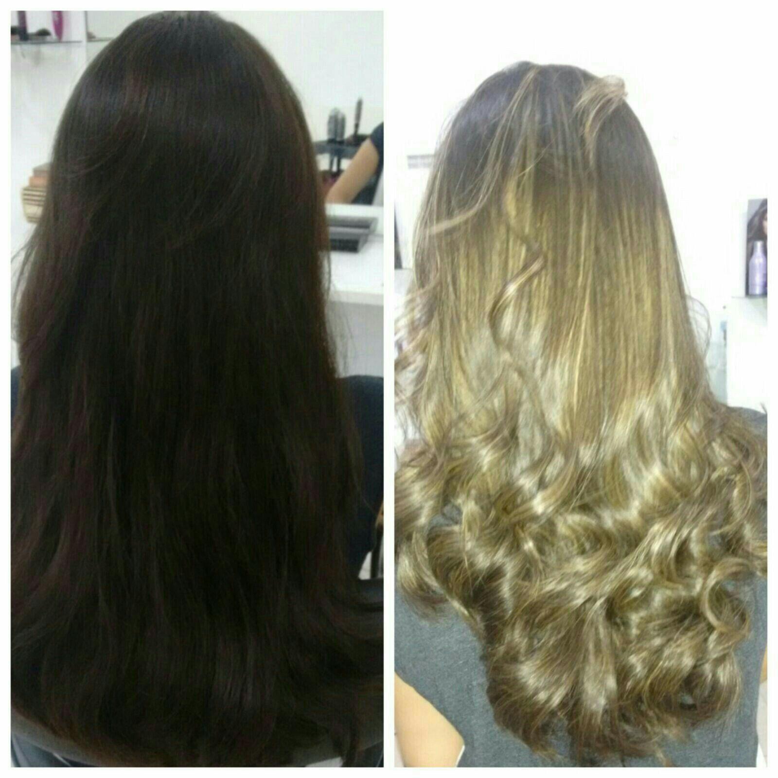 LUZES PEROLADO. cabelo cabeleireiro(a)