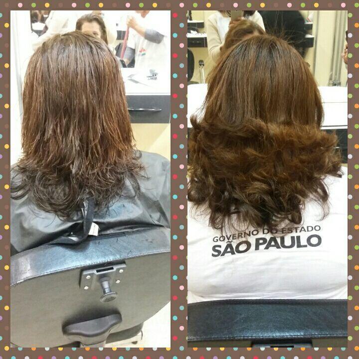 O cabelo do curso q eu fiz cabelo auxiliar cabeleireiro(a)