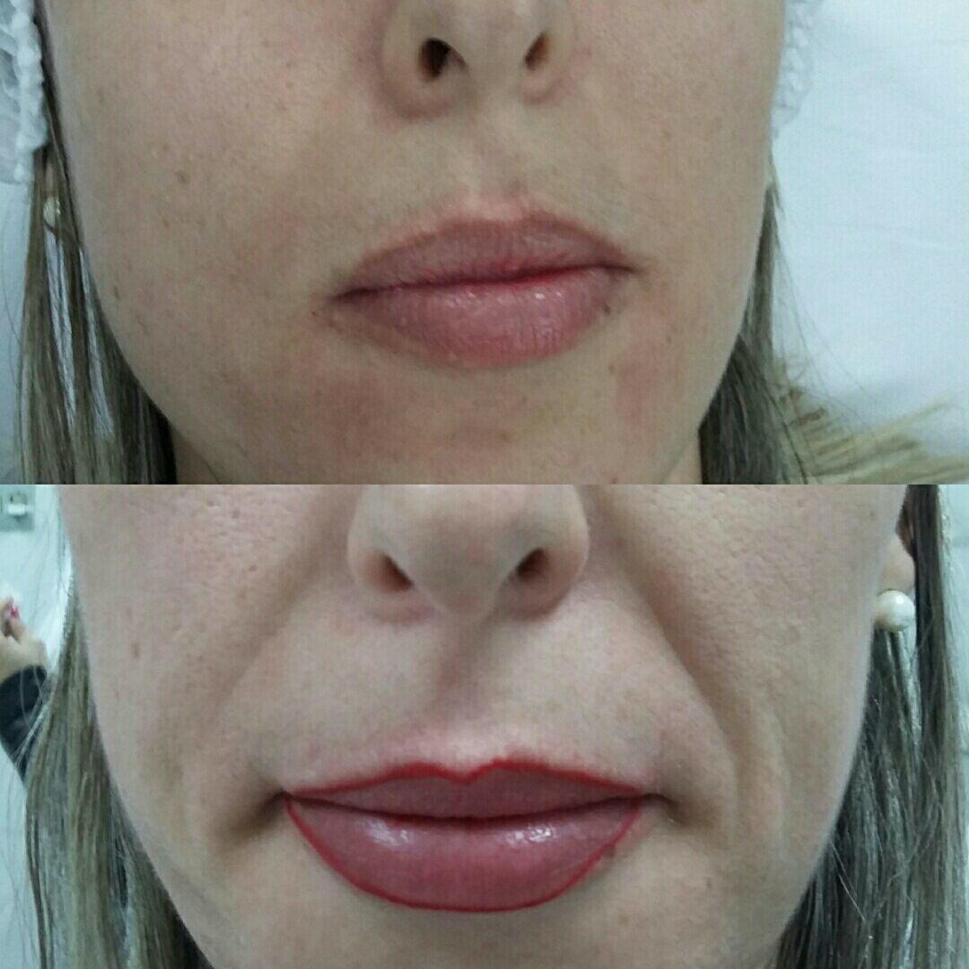 Maquiagem definitiva contorno labial outros micropigmentador(a)