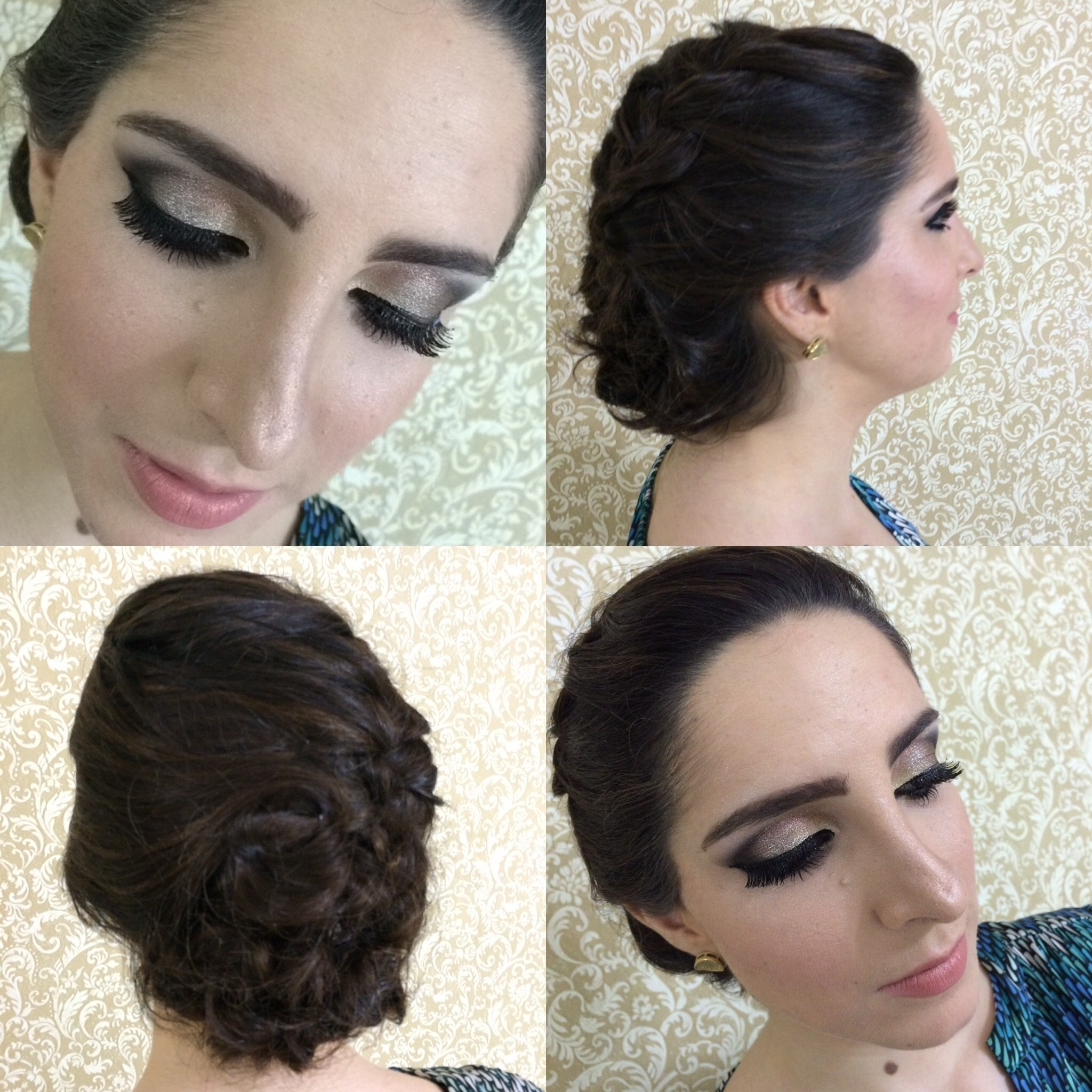 Make e penteado para formatura. maquiagem