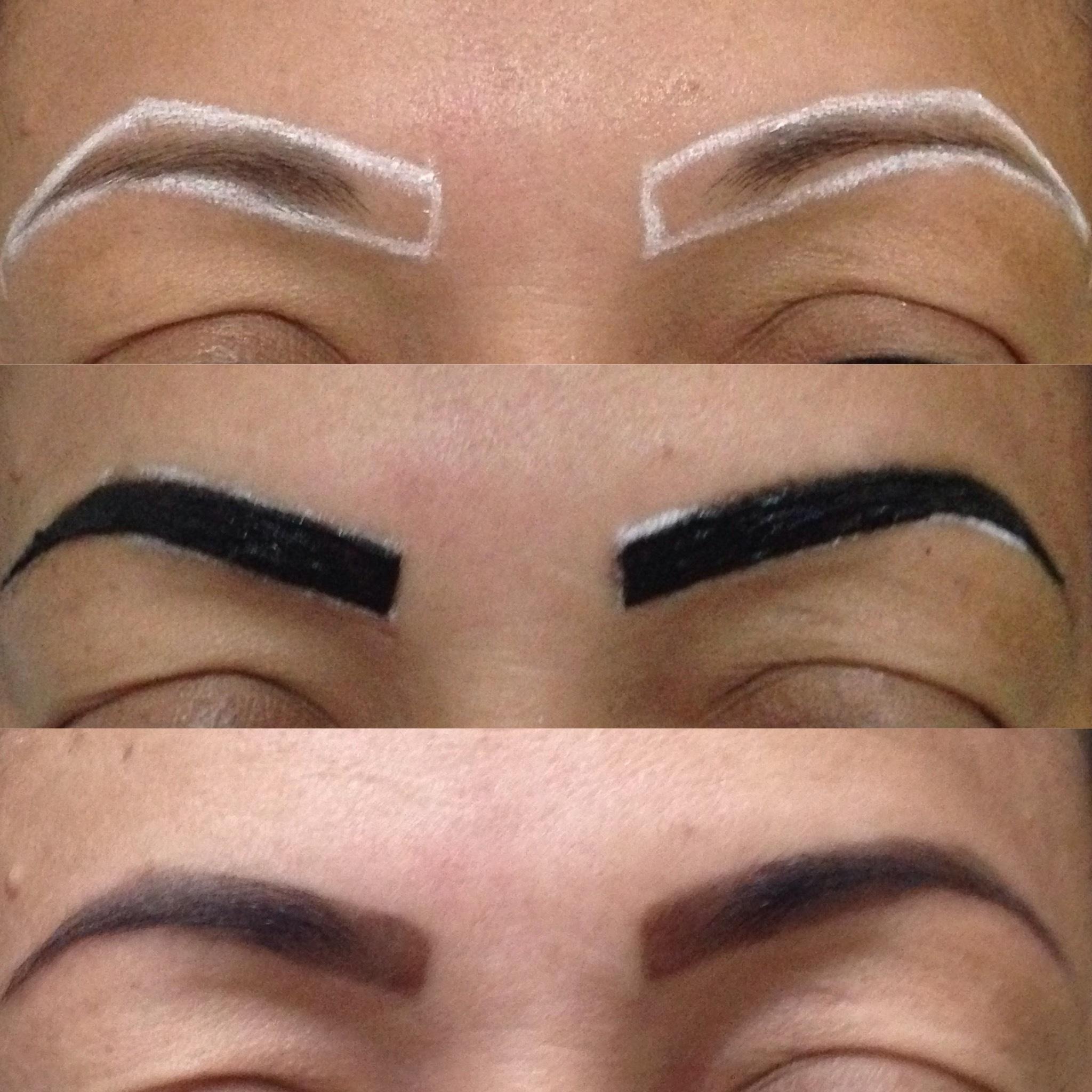 Design de sobrancelhas com Henna  estética designer de sobrancelhas estudante (cabeleireiro) maquiador(a)
