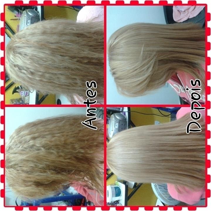 Correção de cor e progressiva cabelo auxiliar cabeleireiro(a)