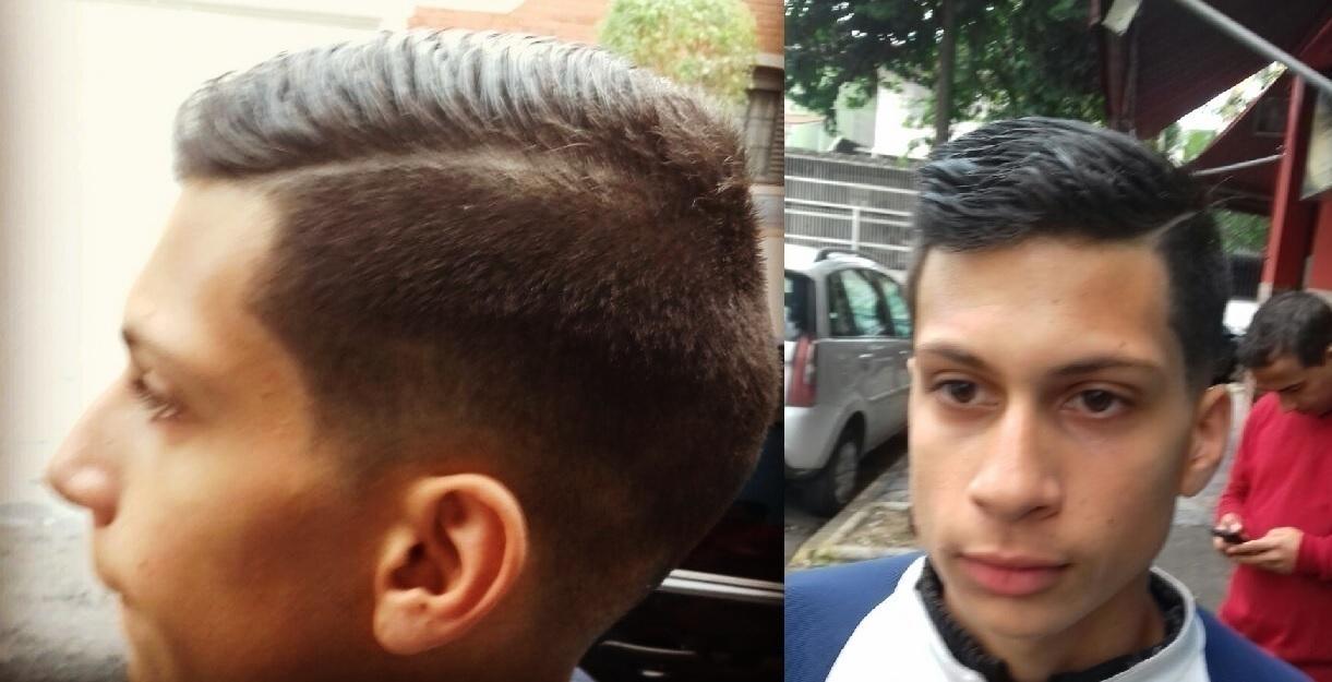 corte masculino  cabelo barbeiro(a)
