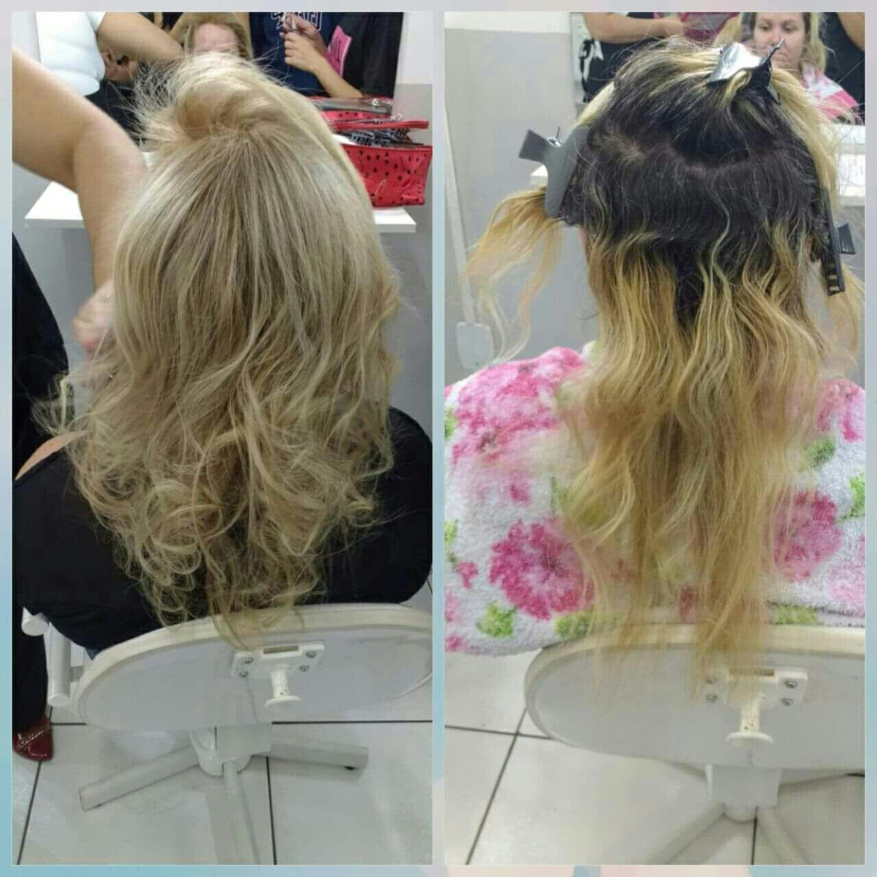Coloração. Mechas no papel. Correção com mix. Raiz de tintura. #meusalunos cabelo cabeleireiro(a) stylist / visagista