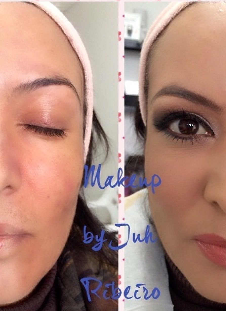 Antes e depois maquiagem maquiador(a) consultor(a) cosmetólogo(a)