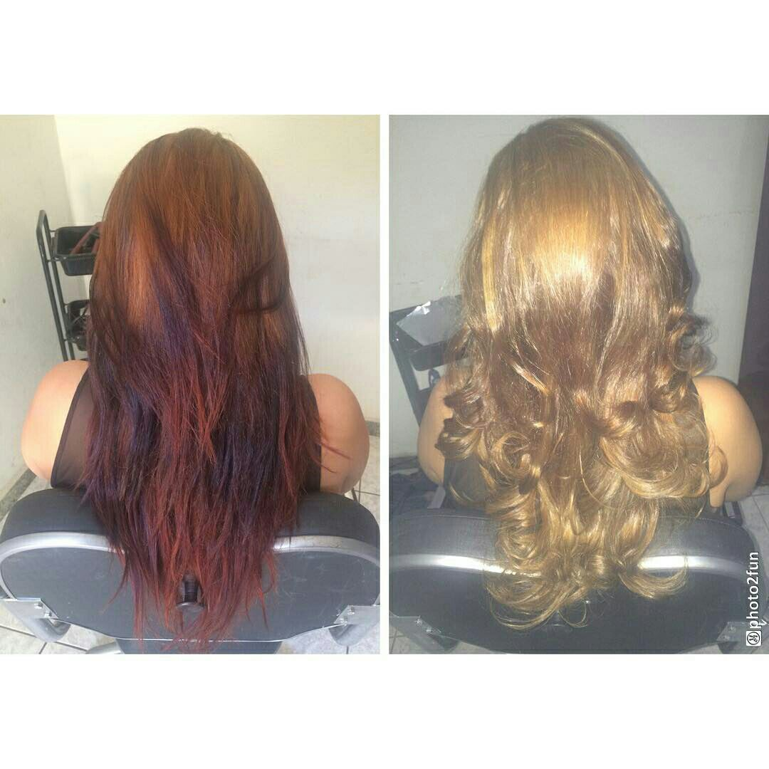 Limpeza de cor e mechas cristal. Tonalizacao com 8.32 cabelo auxiliar cabeleireiro(a) vendedor(a) manicure e pedicure