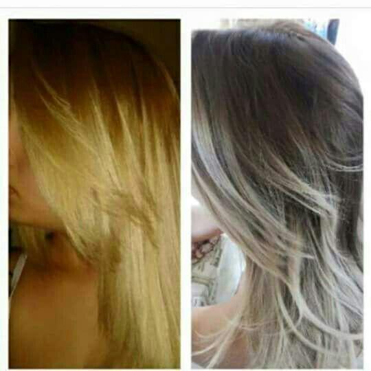 "Ombré ""inverso"". 6.0 raiz, limpeza de cor nas pontas e 11.11 auxiliar cabeleireiro(a) vendedor(a) manicure e pedicure"