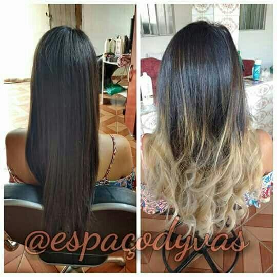 Ombre hightlights cabelo auxiliar cabeleireiro(a) vendedor(a) manicure e pedicure