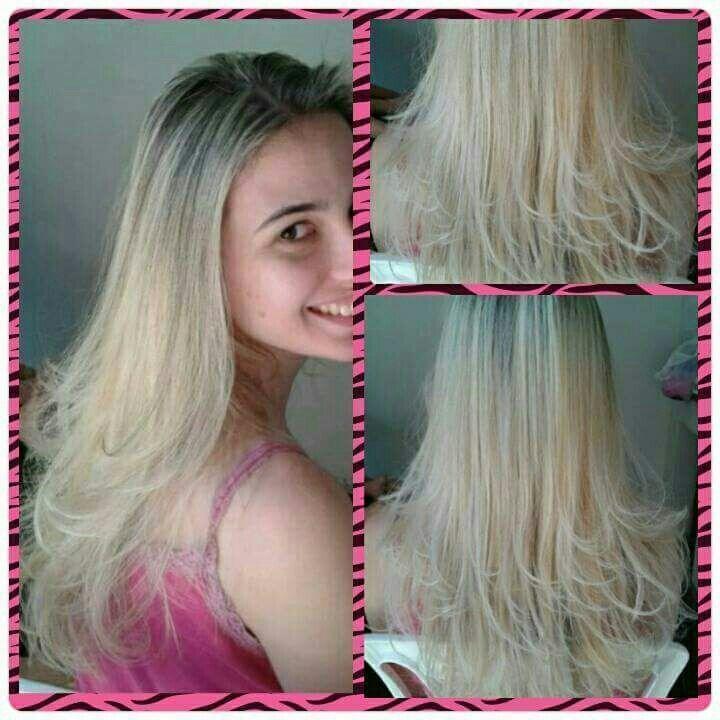 Mechas Platino. Platinada. cabelo cabeleireiro(a) stylist / visagista