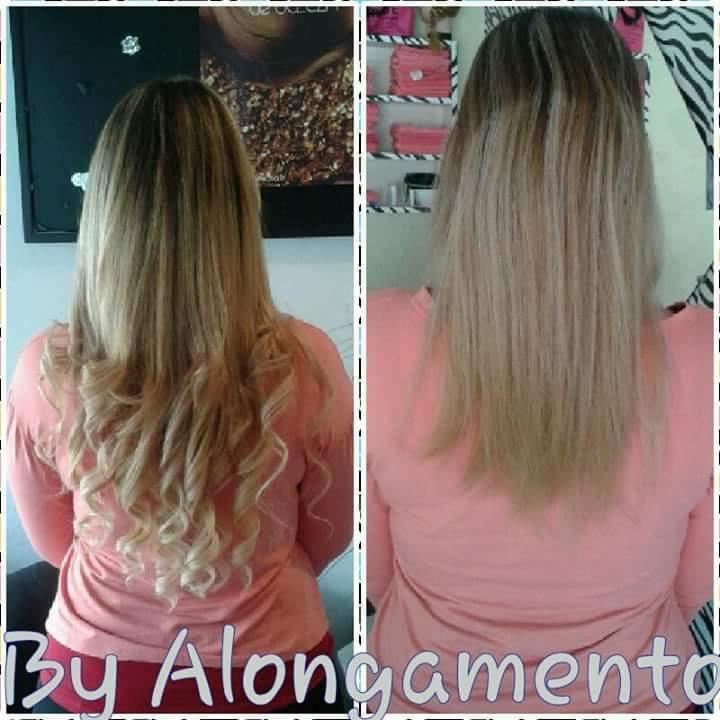 Alongamento nó italiano cabelo auxiliar cabeleireiro(a) designer de sobrancelhas recepcionista