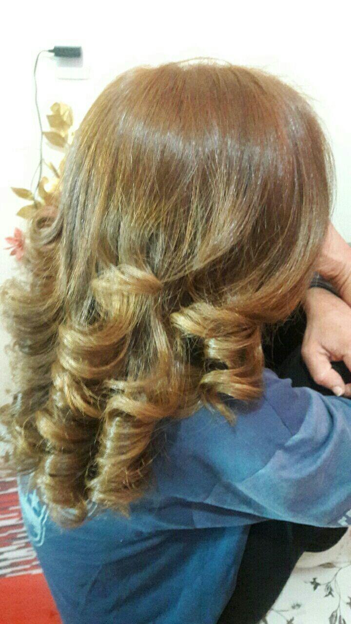 Loiro acobreado finalizado com uma escova modelada! cabelo auxiliar cabeleireiro(a)