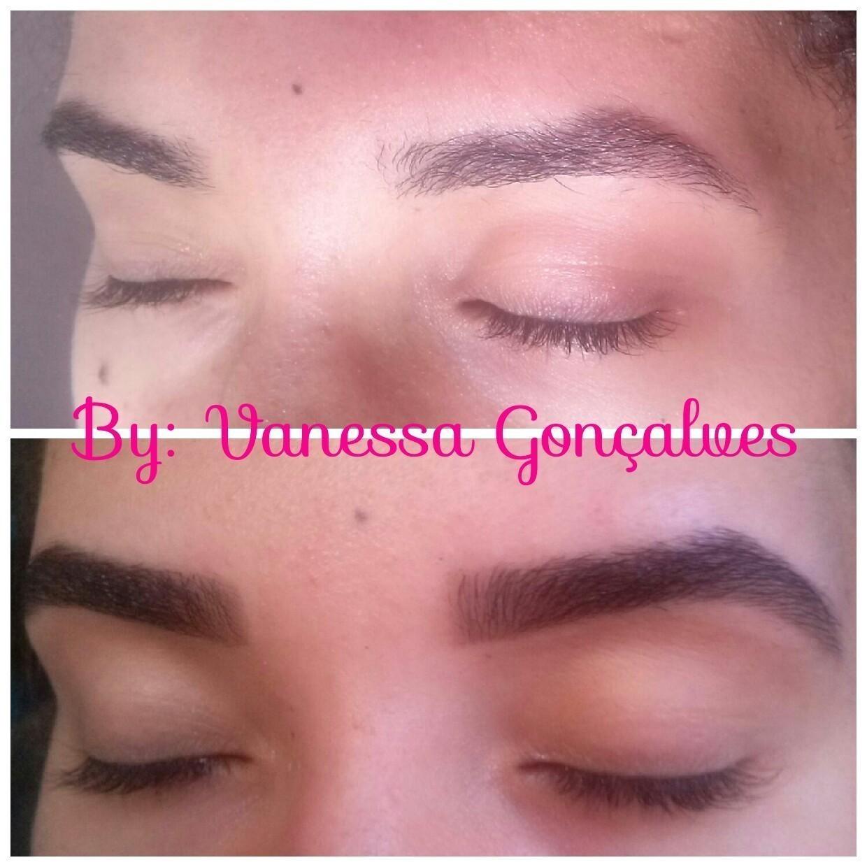 Antes e depois  #designer #rena estética esteticista maquiador(a) designer de sobrancelhas
