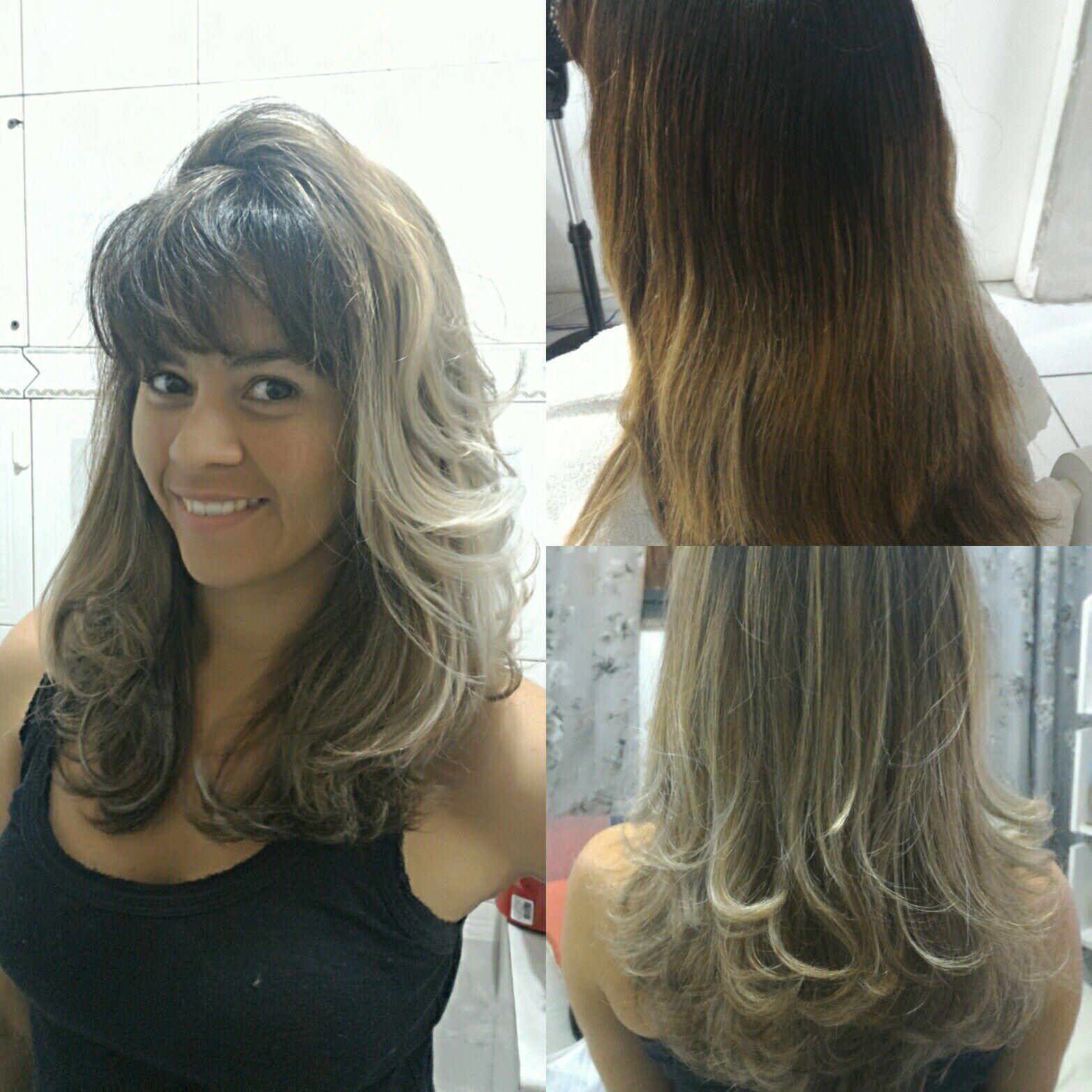Retoque de mechas ombré cabelo cabeleireiro(a) auxiliar cabeleireiro(a) cabeleireiro(a)
