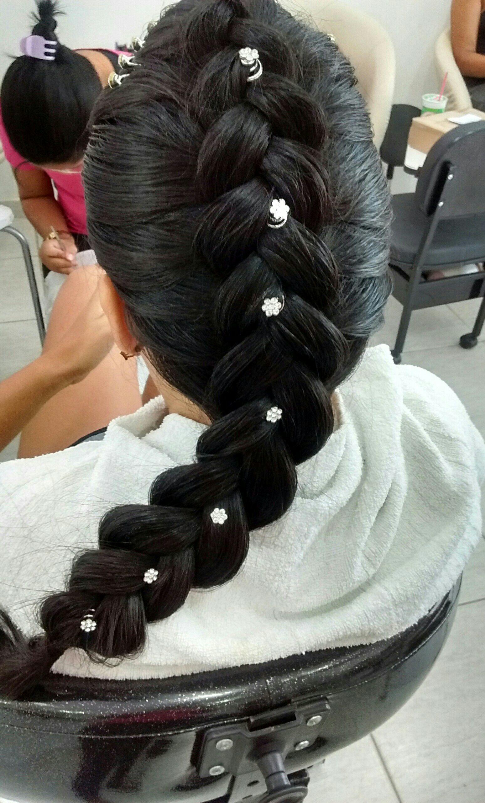 Penteado: trança invertida cabelo cabeleireiro(a)
