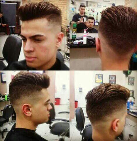 Foto: Razor fade pompadour classic   barbeiro(a)   Eduardo