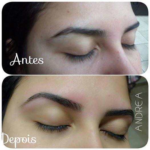 #designerdesobrancelha #Designerandrea Antes e depois  sigam no instragan @deia_cabelereira outros cabeleireiro(a) designer de sobrancelhas