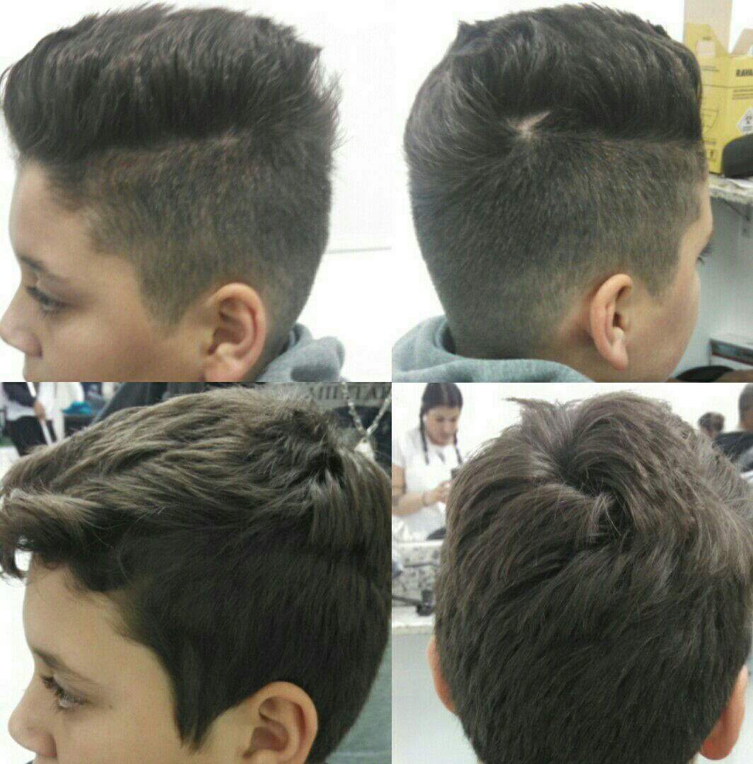 Corte masculino. cabelo cabeleireiro(a) auxiliar cabeleireiro(a) barbeiro(a)