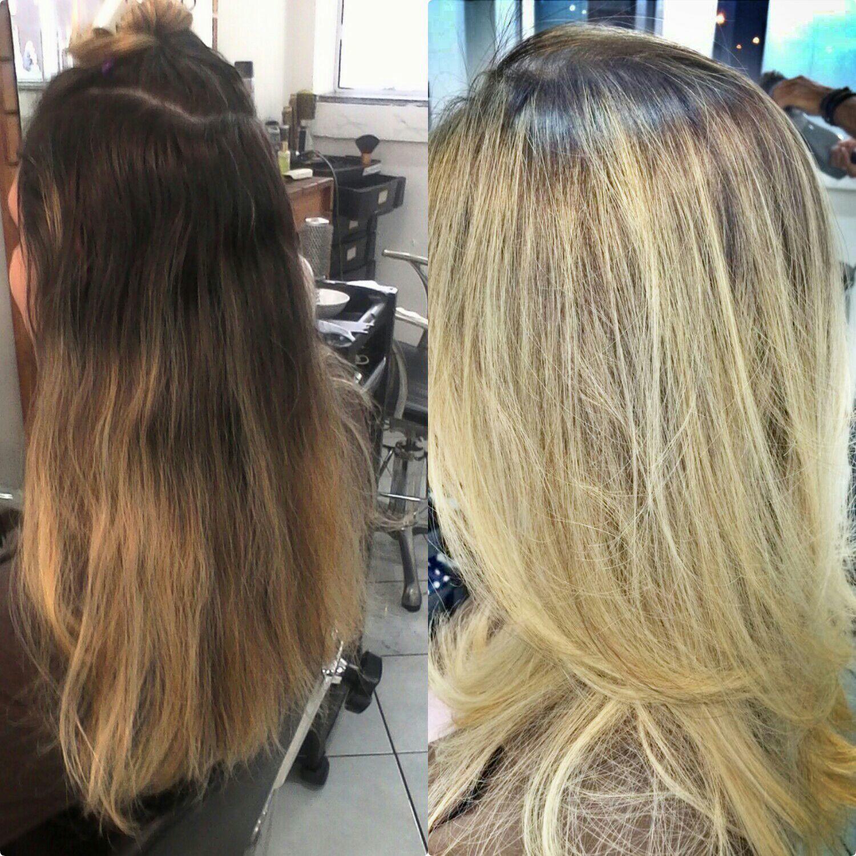 Mechas com a raiz esfumada.  Pó descolorante anethum e tratamento da mesma linha!!! cabelo cabeleireiro(a) designer de sobrancelhas cabeleireiro(a) cabeleireiro(a) cabeleireiro(a)