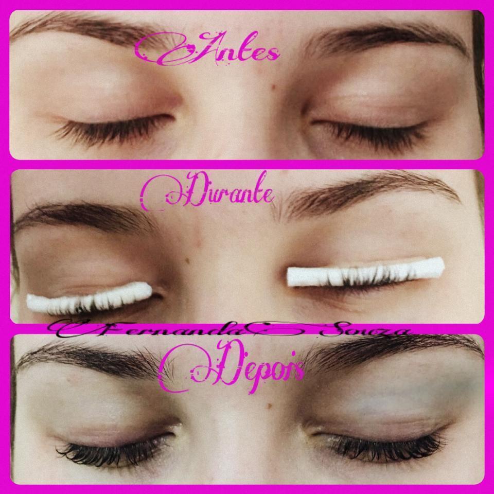 Permanente de cílios e tintura , cílios curvados. estética depilador(a) designer de sobrancelhas massoterapeuta